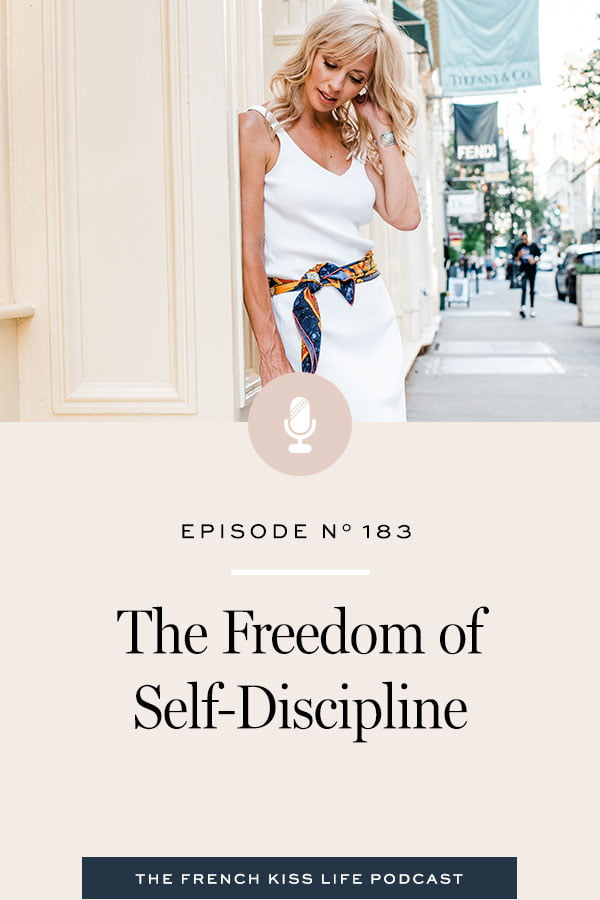 How to take self-discipline and make it something that you really want for your life, instead of something you think you should do.