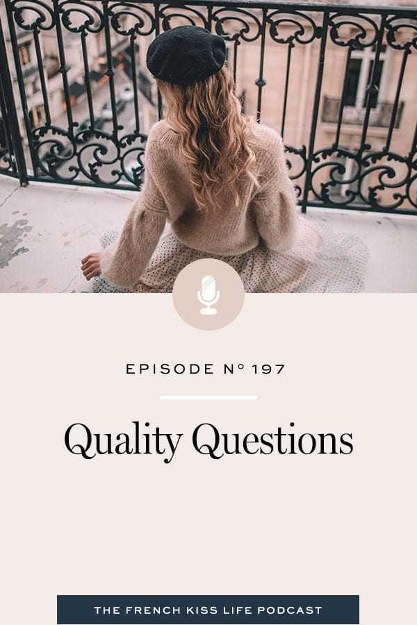 How the quality of your questions affects the quality of your whole life.