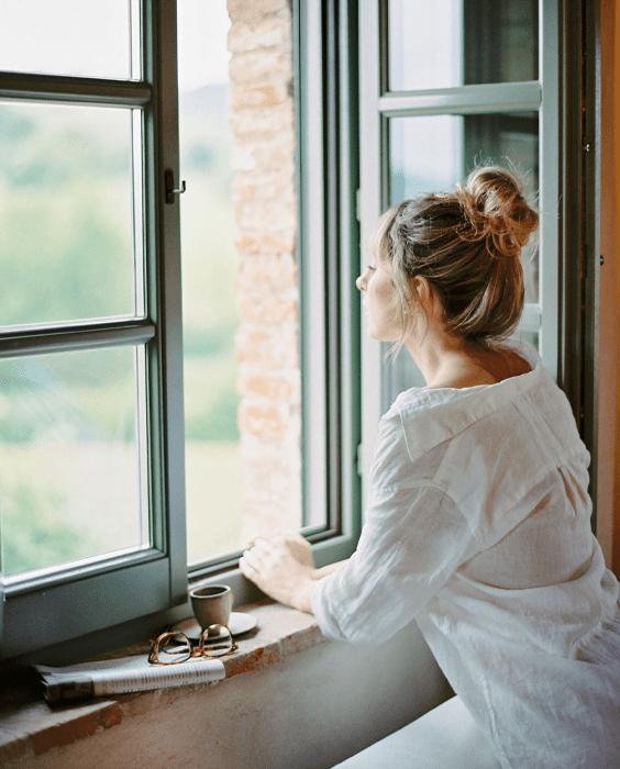 woman window boundaries