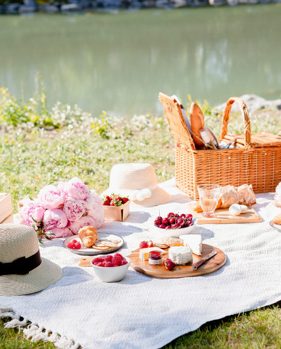 Abundance concept - lakeside picnic